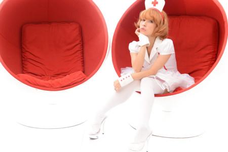キュートな看護婦のコスプレ