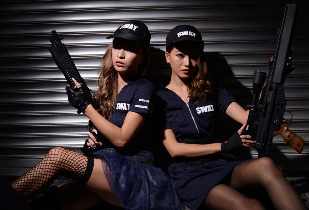 スワットガール、女性のスワット、警察